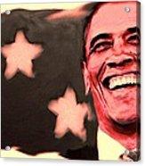 Barak Obama Acrylic Print by Parvez Sayed