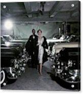 Barbara Mullen With Cars Acrylic Print