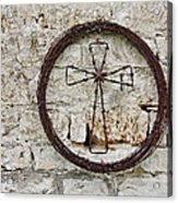 Barbed Wire Cross Acrylic Print