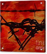 Barbed Wire Love Series  Rage Acrylic Print