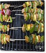 Barbeque Kabobs On Grill Acrylic Print