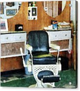 Barber - Barber Shop One Chair Acrylic Print by Susan Savad