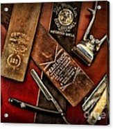 Barber - Barber Tools Of The Trade Acrylic Print by Paul Ward
