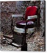 Barber Chair Acrylic Print