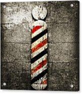 Barber Pole Selective Color Acrylic Print