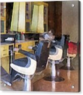 Barber - Small Town Barber Shop Acrylic Print