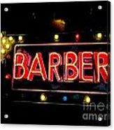 Barber This Way Acrylic Print