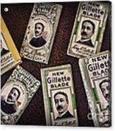 Barber - Vintage Gillette Razor Blades Acrylic Print