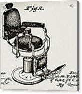 Barbershop Chair Patent Acrylic Print