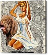 Barbet Art - Una Parisienne Movie Poster Acrylic Print by Sandra Sij