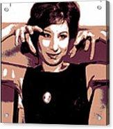 Barbra Streisand - Brown Pop Art Acrylic Print