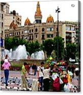 Barcelona - Abstract - Plaza De Catalunia Acrylic Print