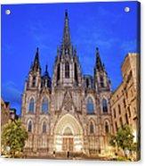 Barcelona Cathedral At Night Acrylic Print