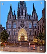 Barcelona Cathedral In The Evening Acrylic Print