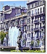 Barcelona Fountain Acrylic Print