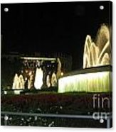 Barcelona Fountain Acrylic Print