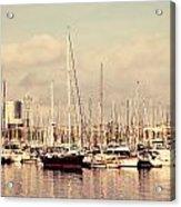Barcelona Harbor - Vertical Acrylic Print