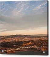 Barcelona On Sunrise. Aerial View Acrylic Print