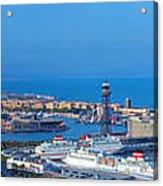 Barcelona Panorama Acrylic Print