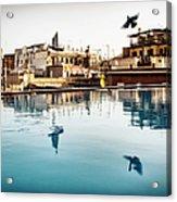 Barcelona Rooftop Pool Acrylic Print