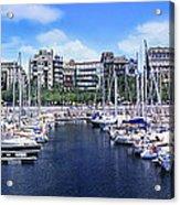 Barcelona Spain Port Vell Marina 3 Acrylic Print