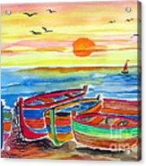 Barche Dei Pescatori  Acrylic Print