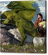 Bard And Dragon Acrylic Print by Daniel Eskridge