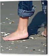 Barefoot On The Beach Acrylic Print