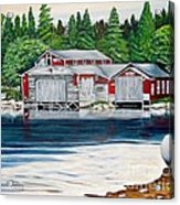 Barkhouse Boatshed Acrylic Print