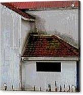 Barn - Geometry - Red Roof Acrylic Print