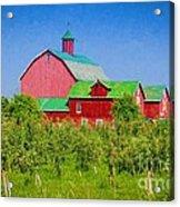Barn And Apple Orchard Acrylic Print