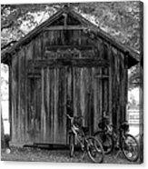 Barn And Bikes Acrylic Print by Paulette Maffucci
