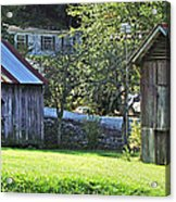 Barn And Chicken Coop Acrylic Print