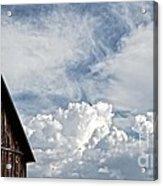 Barn And Clouds Acrylic Print