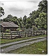 Barn And Corral Acrylic Print by Guy Shultz