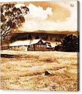 Barn And Field Acrylic Print