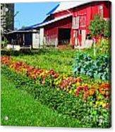 Barn And Garden Acrylic Print