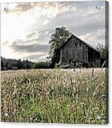 Barn And Grass Acrylic Print