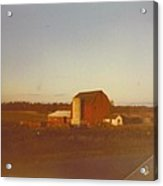 Barn And Land Scape Acrylic Print