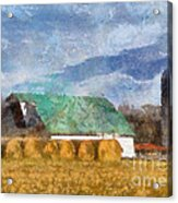 Barn And Silo In West Virginia Acrylic Print
