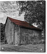Barn At Avenel Plantation - Red Roof Acrylic Print by Steve Hurt