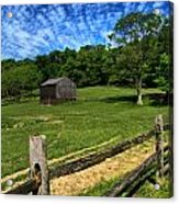 Barn At Hartwood Acres Under Beautiful Sky Acrylic Print