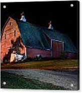 Barn At Night Acrylic Print