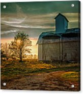 Barn At Sunset Acrylic Print