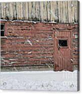 Barn Door In Winter Acrylic Print