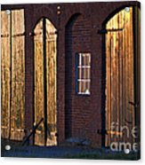 Barn Door Lighting Acrylic Print