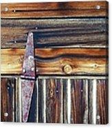 Barn Door Acrylic Print by Wayne Sherriff