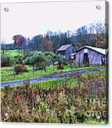 Barn - End Of The Road Acrylic Print