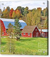 Barn In Autumn Acrylic Print