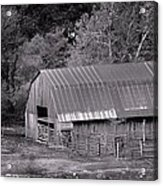 Barn In Black And White Acrylic Print